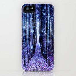 Magical Forest Turquoise Purple iPhone Case