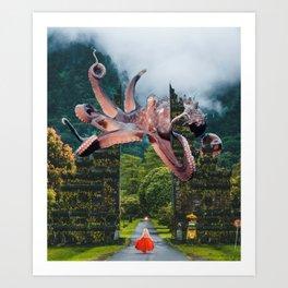 Octopus Lady Art Print