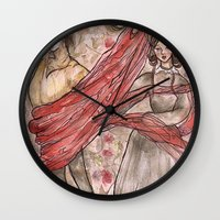 jane eyre Wall Clocks featuring Jane Eyre. An Autobiography  by Sarah Mary Street