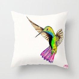 Colibrí -Hummingbird Throw Pillow