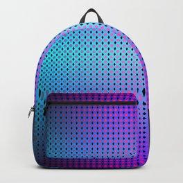 Dark teal purple black ombre hexagon grid Backpack