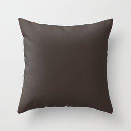 High Mileage ~ Bark Brown Throw Pillow