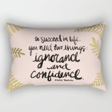 Ignorance & Confidence #2 Rectangular Pillow