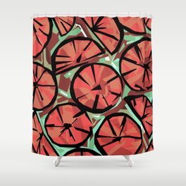 Candy Citrus Aqua Shower Curtain