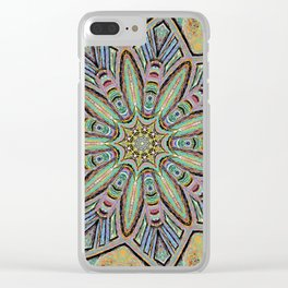 Stained Glass Window - Mandala Art Clear iPhone Case