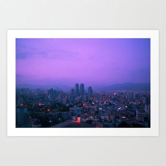 Daegu Morning Art Print