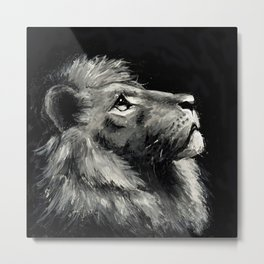 Lion – hold your head high #painting #illustration #lion Metal Print