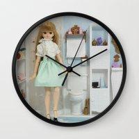 bathroom Wall Clocks featuring Bathroom by ♥  Little Enchanted World ♥