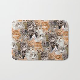 cats pattern lot of funny animals cheesy crazy Bath Mat