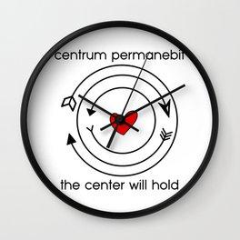 Centrum permanebit | The center will hold Wall Clock