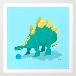 Stegosaurus and his Ball Art Print
