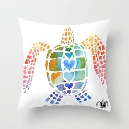 Hug a Sea Turtle Throw Pillow