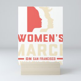 womens march san fransisco Mini Art Print