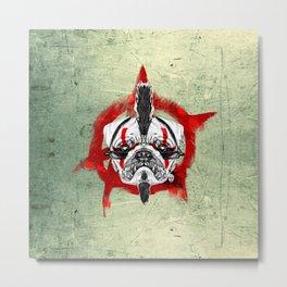 Punk Pug Metal Print