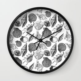 Sea and Ocean Life-Shell Pattern - Mix & Match with Simplicity of life Wall Clock