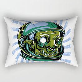 Astronaut Zombie Scary Face - I WAS TAKEN BY ALIENS Rectangular Pillow