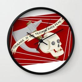 Barbarian Courage Wall Clock