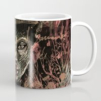 poe Mugs featuring Poe-try by Irmak Akcadogan