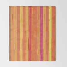 Orange and Yellow Stripes and Lines Abstract Throw Blanket