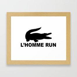 L'Homme Run Framed Art Print