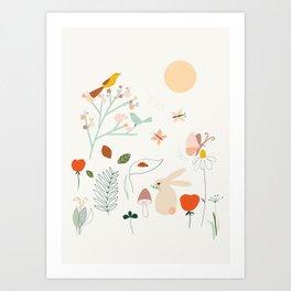 Meadow Blossom Art Print