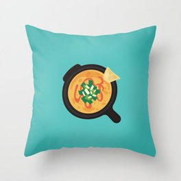 Q is for Queso Throw Pillow