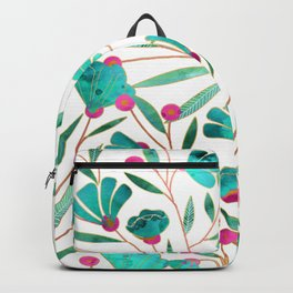 Turquoise Floral Backpack
