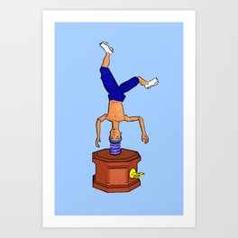 Breakdancing Music Box! Art Print