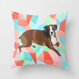 Hannah the Boxer Dog Throw Pillow