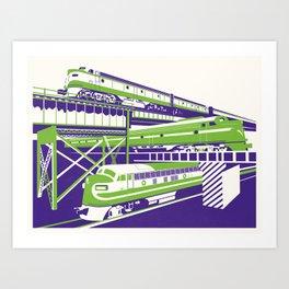 RVA Triple Crossing Art Print