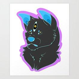 Spoopy Doggo Art Print
