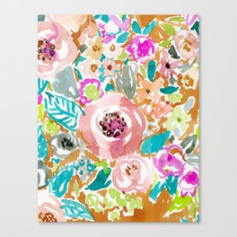 SO LUSCIOUS Colorful Abstract Floral Canvas Print