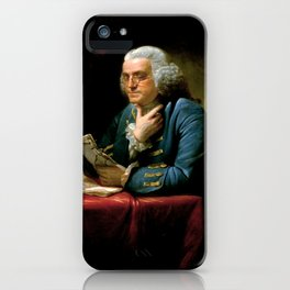 Ben Franklin Painting iPhone Case