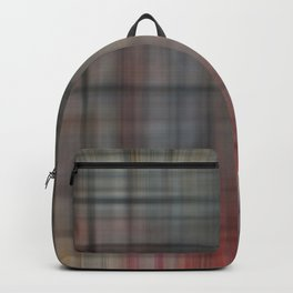 Abstract Multicolored Tartan Backpack