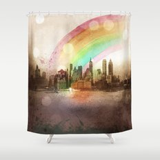 NYC Sky Shower Curtain