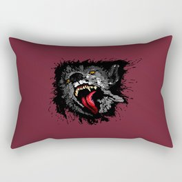 Scary Night Wolf Rectangular Pillow