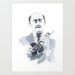 Joe Pass - Jazz Art Print