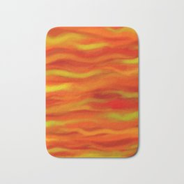 Pumpkin Spice and Butternut Squash Abstract Bath Mat