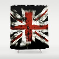 uk Shower Curtains featuring UK Flag by WonderfulDreamPicture