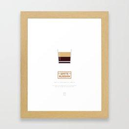 White Russian Sunrise Cocktail Recipe Art Print (White) Framed Art Print