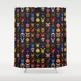 FNAF pixel art Shower Curtain