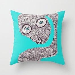 Spiral Snake Throw Pillow