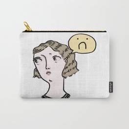 Sad Girl Emoji Carry-All Pouch