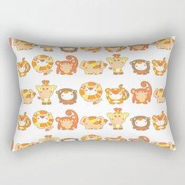 Silly Safari Pattern Rectangular Pillow