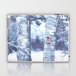 Red Bird House in Winter White Scene #decor #society6 #buyart Laptop & iPad Skin