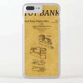 Toy Bank Patent 3 Clear iPhone Case
