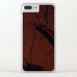all red Clear iPhone Case