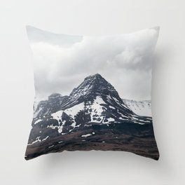 Black Mountain - Iceland Landscape, Nature Photography Throw Pillow