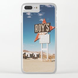 Roy's Motel Clear iPhone Case