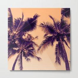 Palm Trees Vintage Metal Print